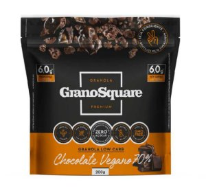 Granola Low Carb 200g Chocolate Vegano - GranoSquare