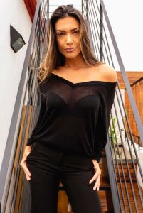 Blusa Decote V Oversized