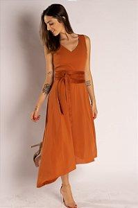 Vestido Crepe + Cinto