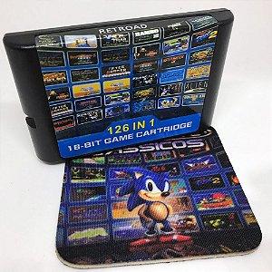 Cartucho Mega Drive 126 jogos em 1