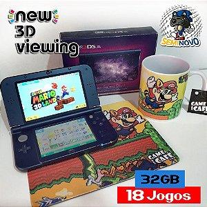New Nintendo 3DS XL com 18 Jogos - 32GB