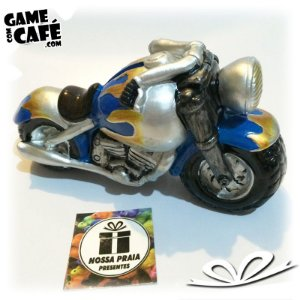 Cofre Blue Motorcycle