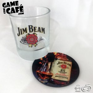 Copo de Whisky Jim Beam