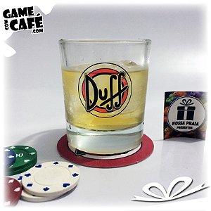 Copo de Whisky Duff Beer Logo