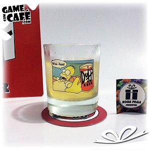 Copo de Whisky Duff Beer Homer