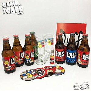 Coleção Cervejas e Taças Duff Beer
