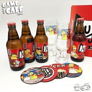 Coleção Springfield - 4 Cervejas Duff Beer e 2 Taças