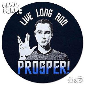 Porta-Copo W218 Big Bang Theory - Live Long and Prosper