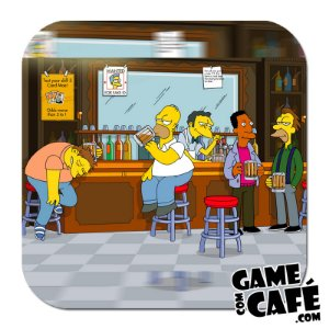 Porta-Copo Os Simpsons S60 Bar do Moes