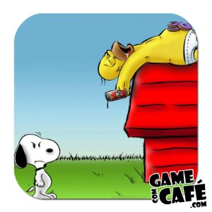 Porta-Copo Os Simpsons S78 Snoopy VS Homer