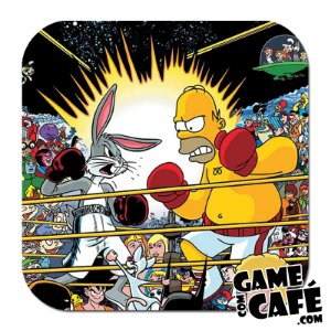 Porta-Copo Os Simpsons S84 Pernalonga VS Homer