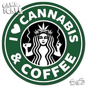 Porta-Copo X45 I Love Cannabis e Coffee