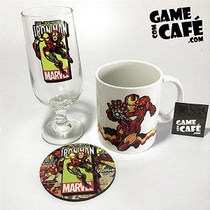Taça de Cerveja + Caneca Marvel Ironman