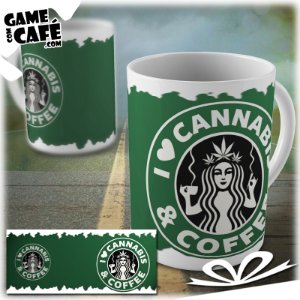 Caneca G28 I Love Cannabis and Coffee