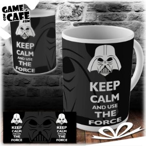 Caneca S47 Star Wars - Keep calm and use the force