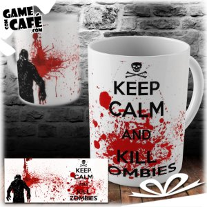 Caneca S48 The Walking Dead - Keep calm and kill a zombies