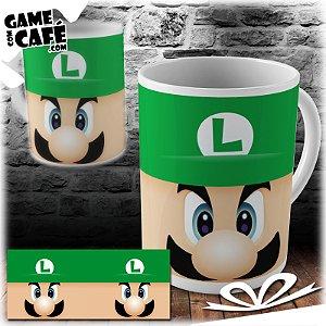 Caneca M56 Super Mario - Luigi