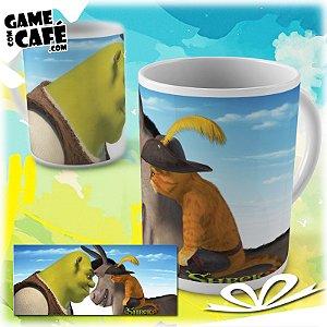 Caneca M97 Shrek - Burro - Gato de Botas