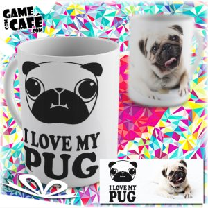 Caneca Pets P05 I Love My Pug