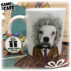 Caneca Pets P06 Celebrity Pet Albert Einstein