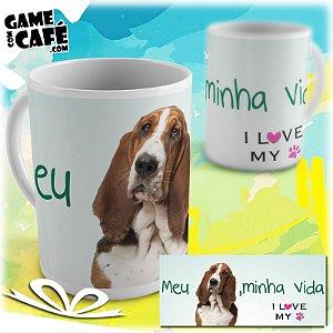 Caneca Pets P18 I Love My Basset Hound