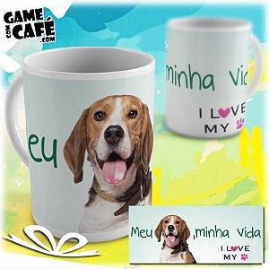 Caneca Pets P19 I Love My Beagle
