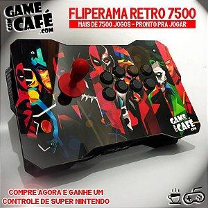 Controle de Fliperama Retro com 7500 Jogos