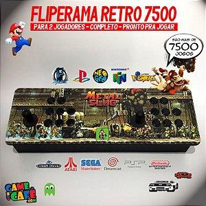 Controle de Fliperama Retro com 7500 Jogos - 2 Jogadores