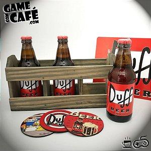 Engradado com 3 Cervejas Duff Beer