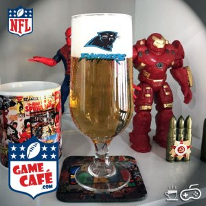 Taça de Cerveja NFL T122 Carolina Panthers