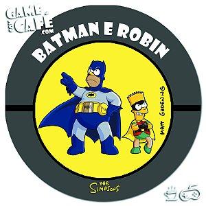 Porta-Copo Retro dos Simpsons S97 Batman e Robin