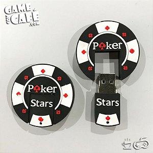 Pen Drive Poker Stars Black 16GB