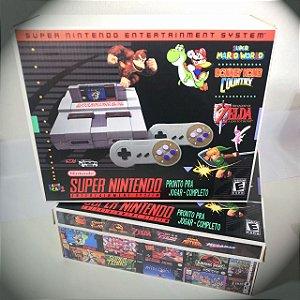 Super Nintendo Retro com 1.000 Jogos SNES