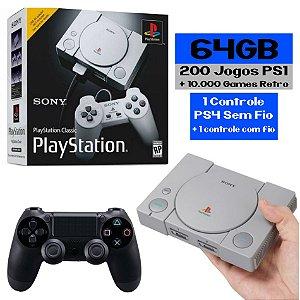 Playstation Classic Retro 200 Jogos - Sem Fio