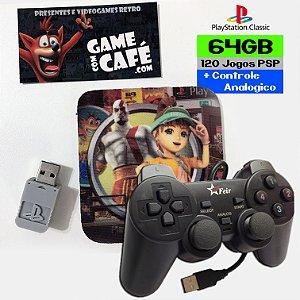 Controle + 120 Jogos PSP para o Playstation Classic
