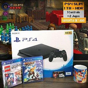 Playstation 4 Slim 1TB com 2 Jogos