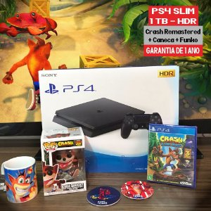 Playstation 4 Slim 1TB + KIT Crash Bandicoot