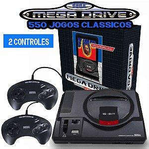 Mega Drive 550 Jogos - 2 Controles