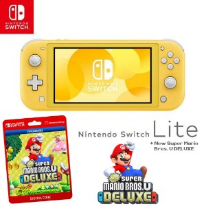Nintendo Switch Lite + New Super Mario Bros U