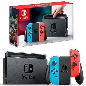 Nintendo Switch 32GB - Vermelho e Azul