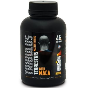 Tribulus Terrestris 500mg + Maca Peruana 100mg (120caps)  - Max Testo Plus