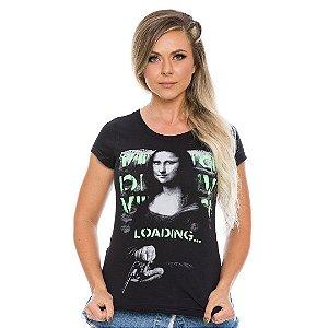 Camiseta Militar Baby Look Vidi Vici Loading Monalisa
