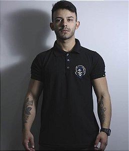 Camiseta Gola Polo Masculina Mossad Bordada Team Six