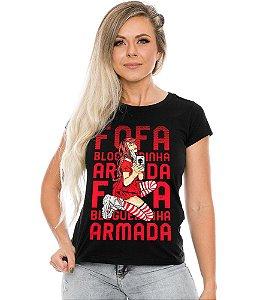 Camiseta Baby Look Feminina Fofa Blogueirinha Armada Team Six