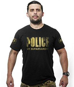 Camiseta Police NY Department EUA Gold Line