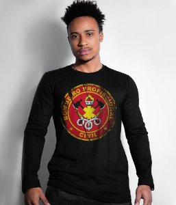 Camiseta Manga Longa Bombeiro Civil Profissional