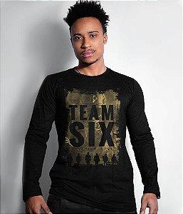 Camiseta Manga Longa Team Six Military Wear