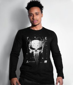 Camiseta Manga Longa New Punisher