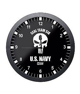 Relógio de Parede Punisher Seal US Navy