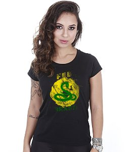 Camiseta Militar Baby Look Feminina FEB Do Brasil